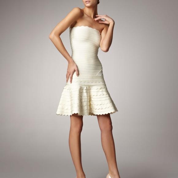 cd6751cf2e26 Herve Leger Dresses & Skirts - Herve Leger Scallop Strapless Dress Medium